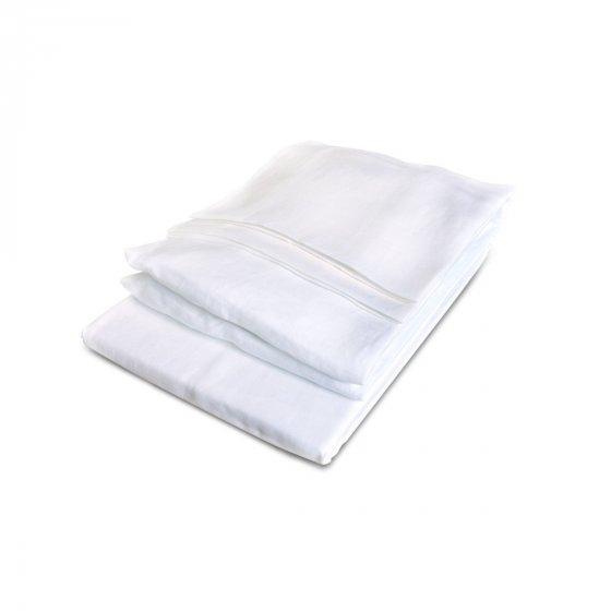 California Sheet set Twin white :  1 flat + 1 fitted sheet
